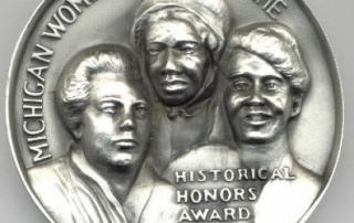 Original Michigan Women's Hall of Fame medallion design