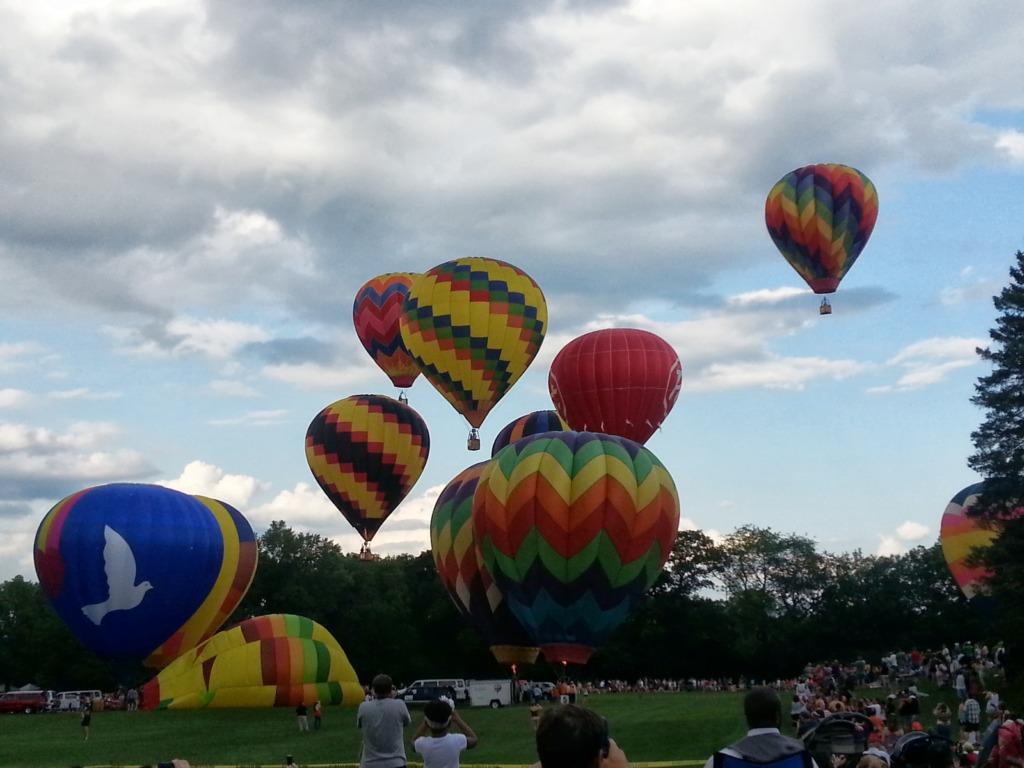 Photo of hot air balloons taking flightfrom